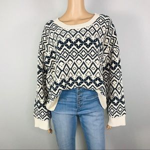 Chenille very soft wide sleeves knit sweater
